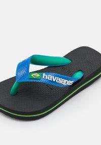 Havaianas - BRASIL MIX - Pool shoes - black/blue star - 5