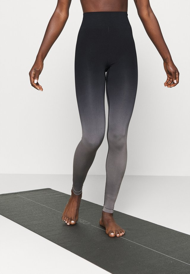 SEAMLESS - Leggings - black/grey