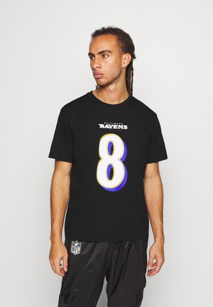 NFL LAMAR JACKSONBALTIMORE RAVENS ICONIC NAME NUMBER GRAPHIC - Club wear - black