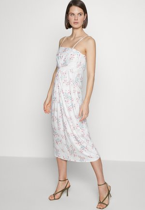 MIDI DRESS - Vestito di maglina - off white