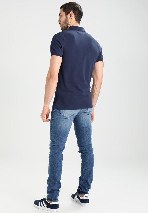Tommy Jeans ORIGINAL FINE SLIM FIT - Koszulka polo - black iris/granatowy Odzież Męska YUWQ