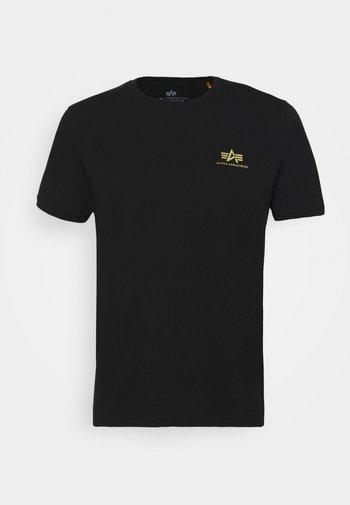 FOIL EXCLUSIVE - T-shirt z nadrukiem - black/yellow gold