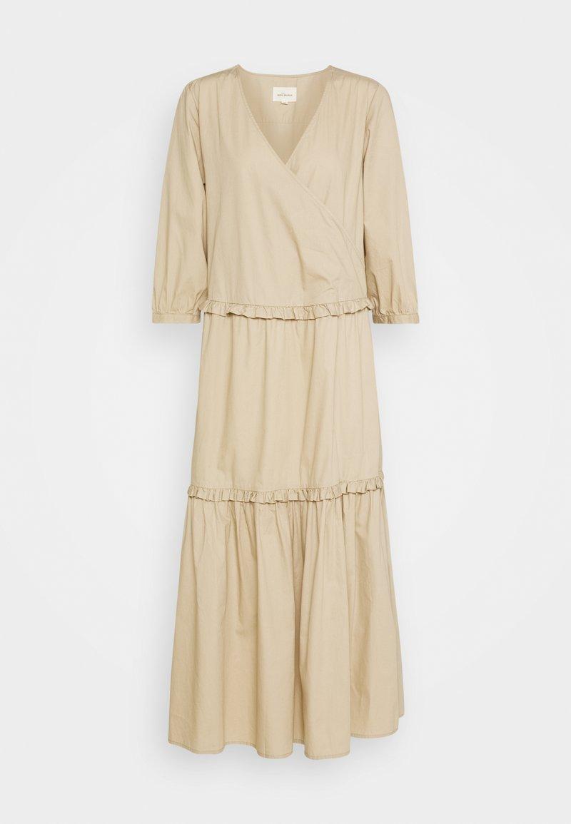 esmé studios - ELLY WRAP AROUND DRESS - Maxi šaty - white peper