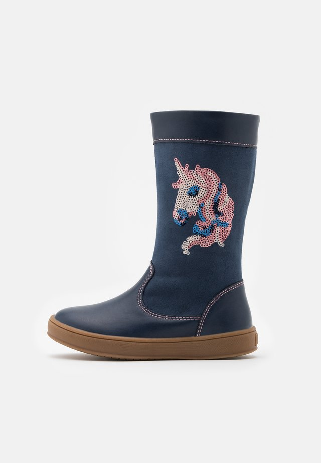 Stiefel - dark blue