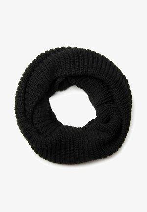 Unisex Feins einfarbiger Loop Schlauchs - Snood - schwarz