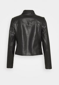 comma - JACKET - Faux leather jacket - black