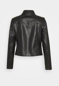 comma - JACKET - Faux leather jacket - black - 1