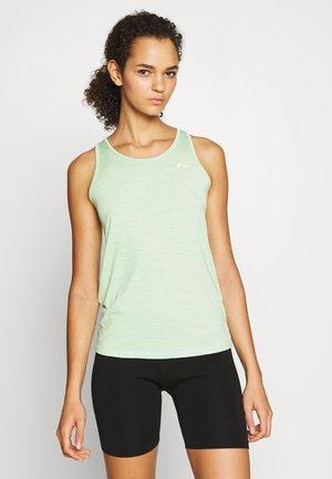 ONPMAREAM CROCHE TRAINING  - T-shirt imprimé - green ash/melange/saftey yellow