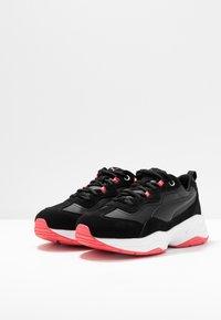 Puma - CILIA - Sneakers - black/calypso coral/silver/white - 4