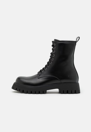 MANIA - Lace-up ankle boots - black