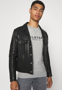 Belstaff - Sweatshirt - grey melange/dark navy - 3
