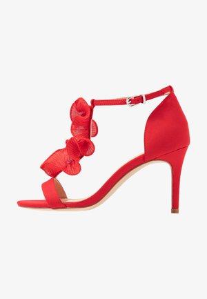 PETAL - High heeled sandals - red