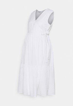 PCMTERETA WRAP DRESS MATERNITY - Day dress - bright white