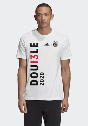 FCB DOUBLE T-SHIRT 2020 M - T-shirt z nadrukiem - white