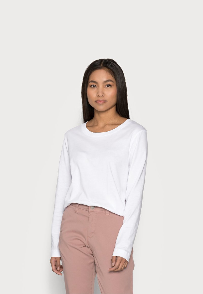 Selected Femme Petite - SLFSTANDARD TEE - Top sdlouhým rukávem - bright white