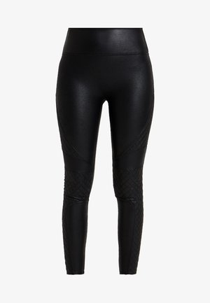 QUILTED - Leggings - very black