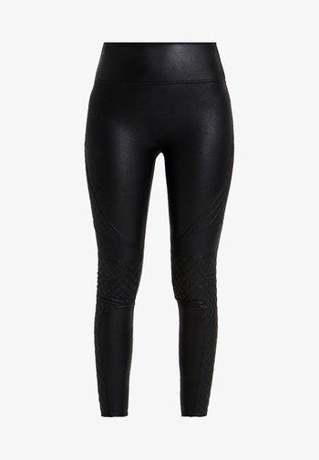 QUILTED - Leggings - very black