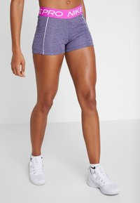 Nike Performance - SHORT SPACE DYE - Legging - cerulean/white - 1
