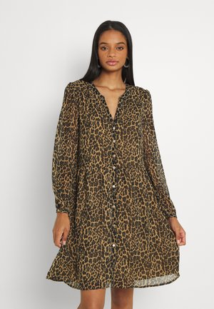Shirt dress - tigers eye