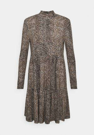 SOPHIE LONG SLEEVE SMOCK DRESS - Žerzejové šaty - light brown