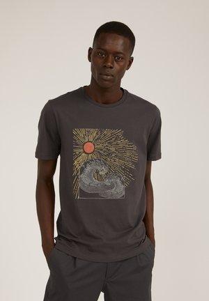 Print T-shirt - acid black