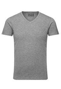Jack & Jones - 3 PACK V-NECK - Basic T-shirt - grey/blue/black - 4