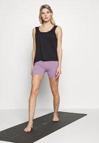 Cotton On Body - SO SOFT SHORT - Leggings - concrete marle/faded grape marle - 1