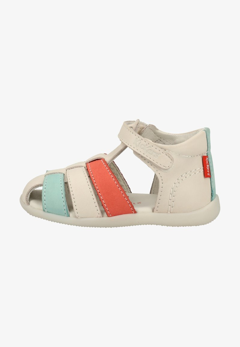 Kickers - Chaussures premiers pas - white/pink/blue