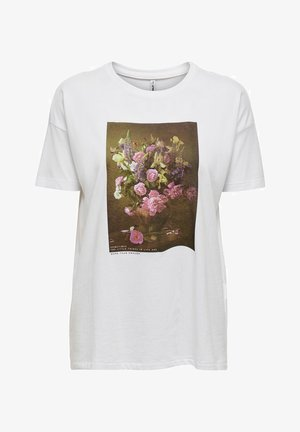 Print T-shirt - bright white