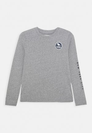 VINTAGE PRINT LOGO - Long sleeved top - grey