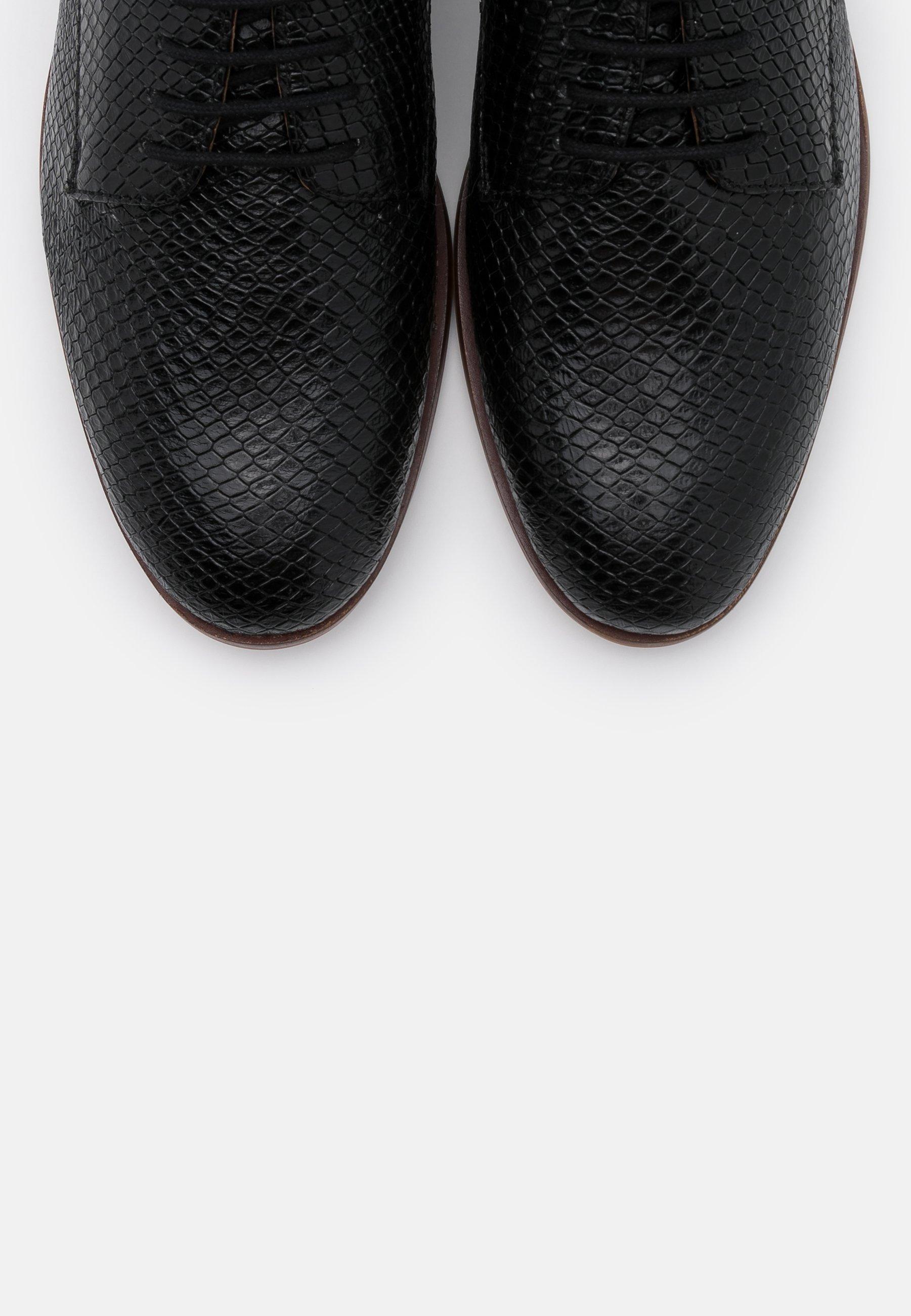 Anna Field Leather - Snøresko Black