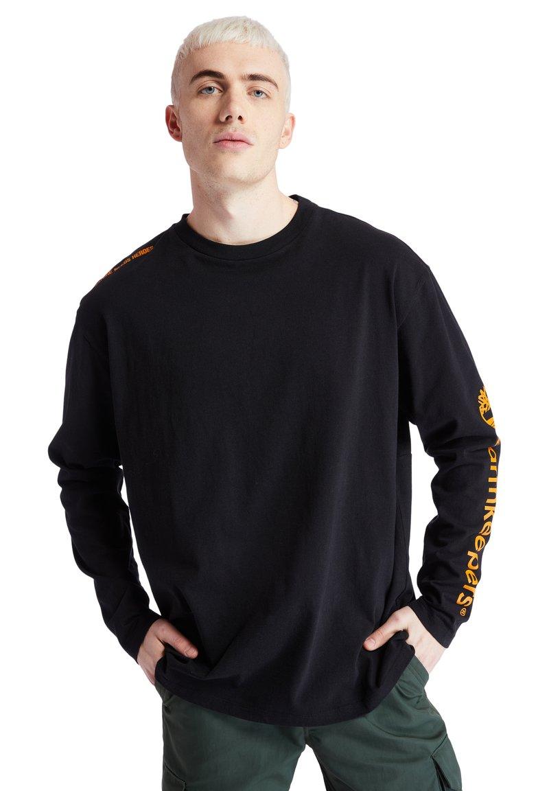 Timberland - EARTHKEEPERS+ ECORIGINAL LS - T-shirt med print - black