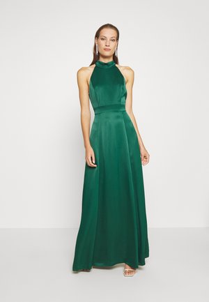 LONG NECKHOLDER DRESS - Gallakjole - eden green