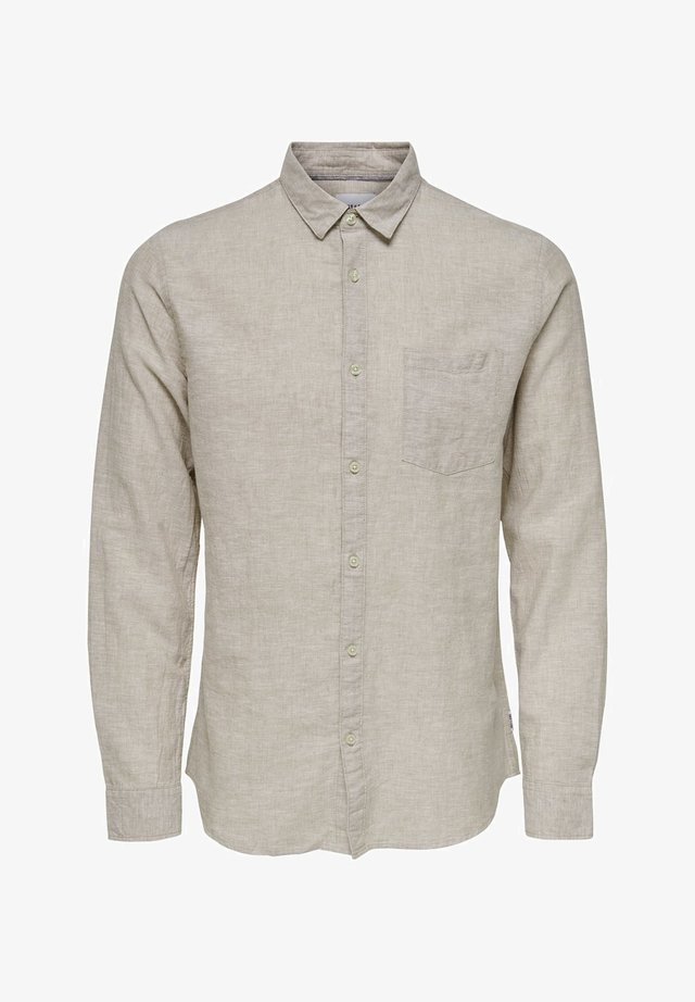 ONSCAIDEN SOLID - Camicia - beige
