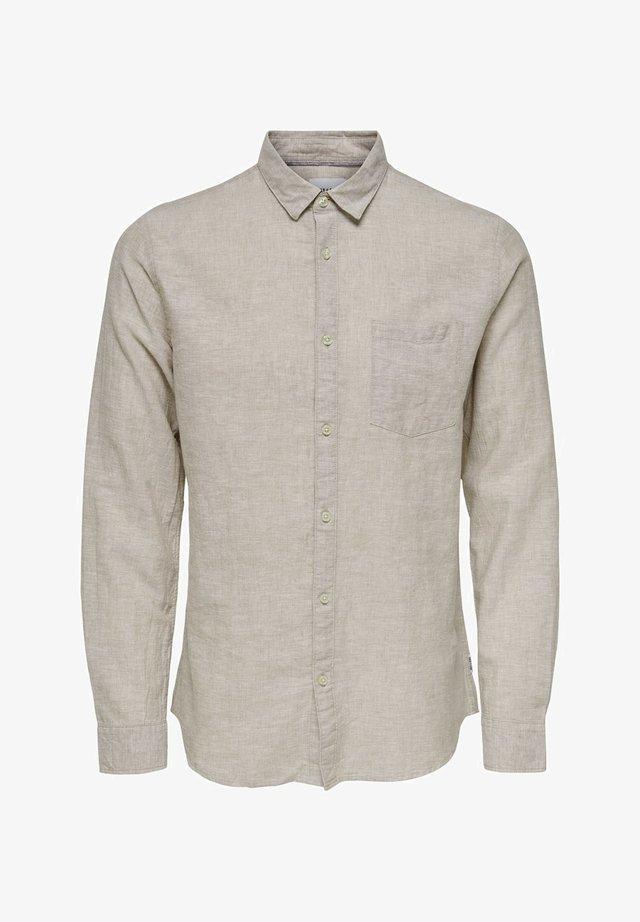 ONSCAIDEN LS SOLID LINEN SHIRT NOOS - Shirt - beige