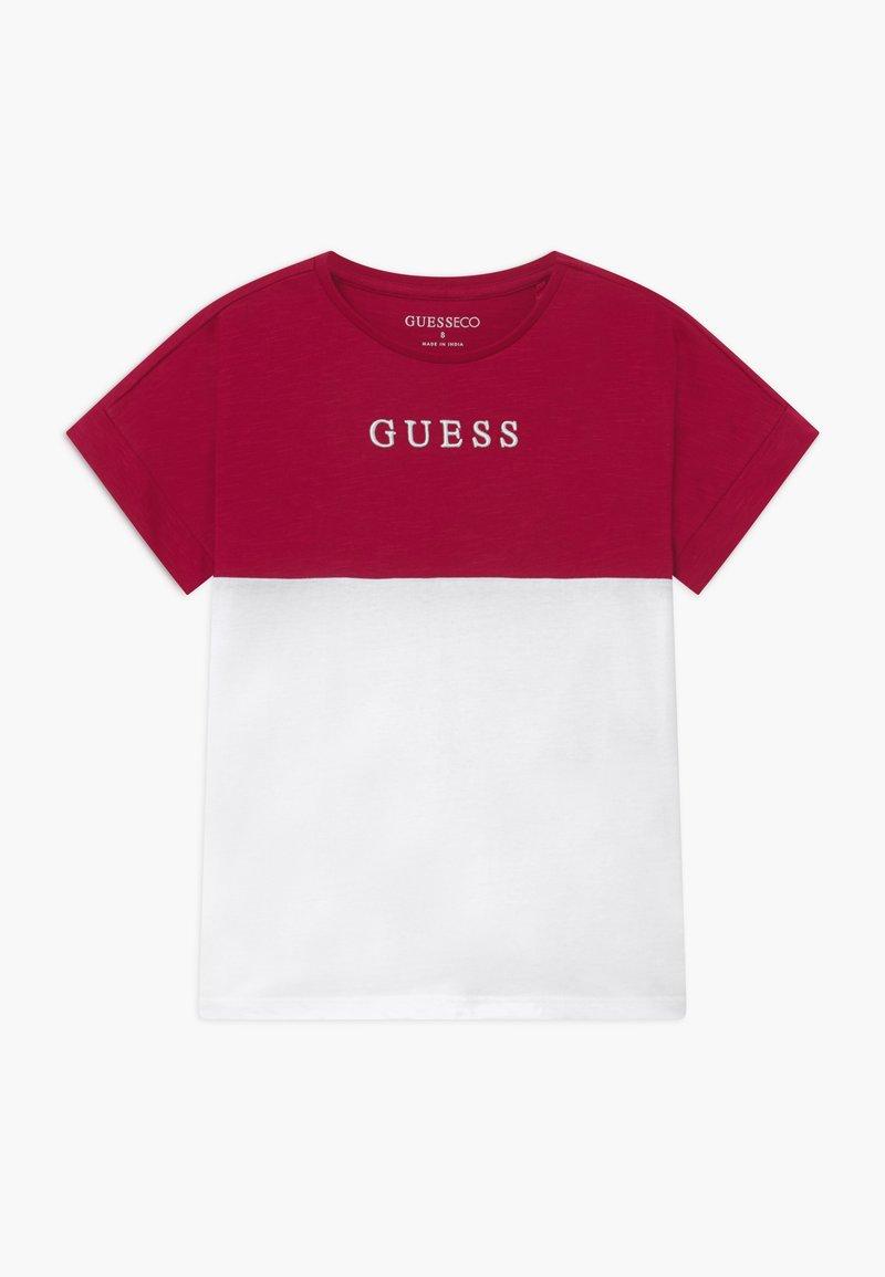 Guess - JUNIOR MIDI - T-shirt imprimé - disco pink