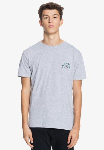 Print T-shirt - micro chip heather