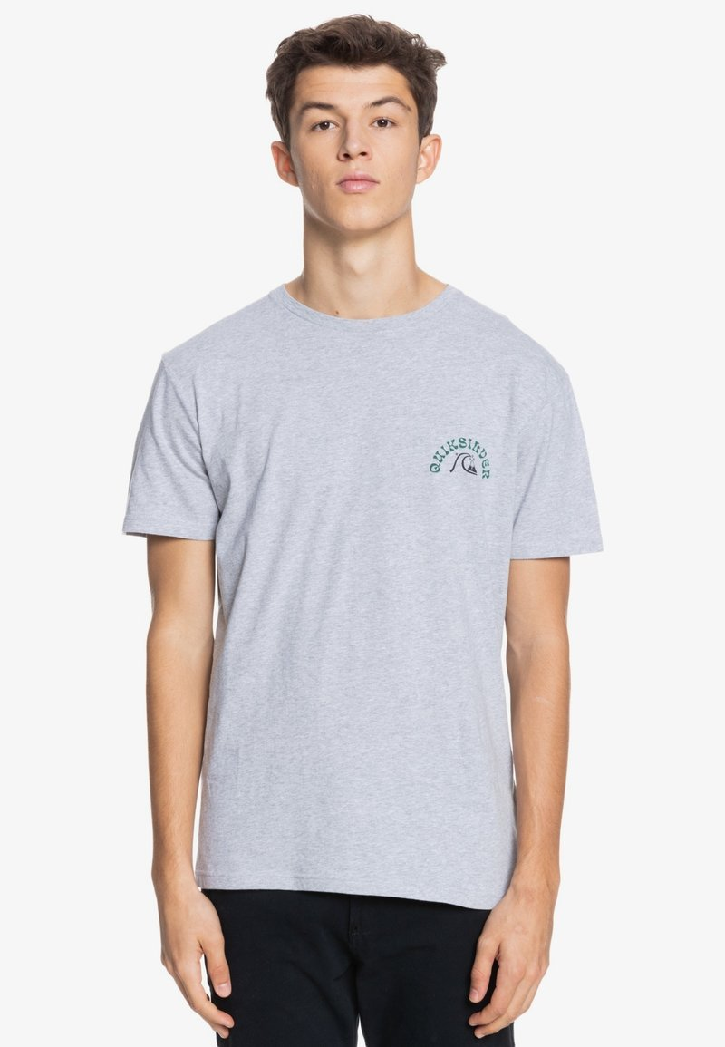 Quiksilver - Print T-shirt - micro chip heather