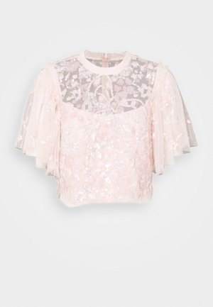 SEQUIN RIBBON TOP - Blůza - pink encore