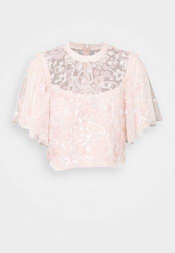 SEQUIN RIBBON TOP - Blusa - pink encore