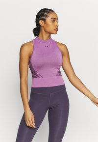 Under Armour - RUSH SEAMLESS CROP - Top - polaris purple - 0