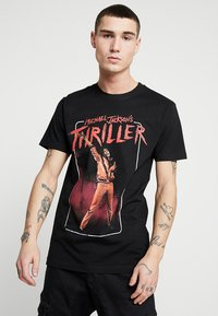 Mister Tee - MICHAEL JACKSON THRILLER VIDEO TEE - Print T-shirt - black - 0