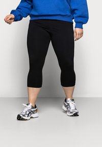 Even&Odd Curvy - CROPPED - Leggings - Trousers - black - 4