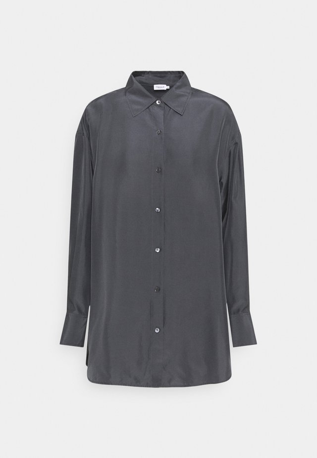 MANDY SHIRT - Button-down blouse - grey