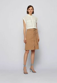BOSS - A-line skirt - beige - 1