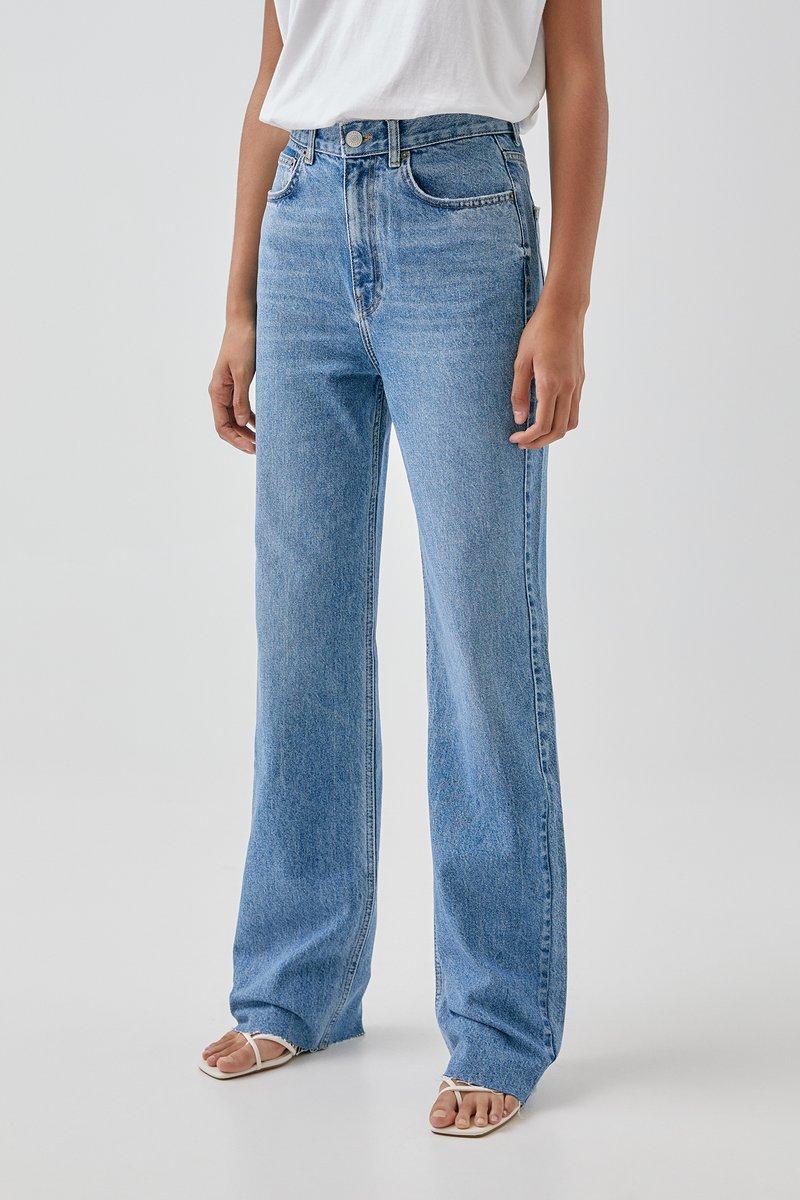 PULL&BEAR - Džíny Straight Fit - blue