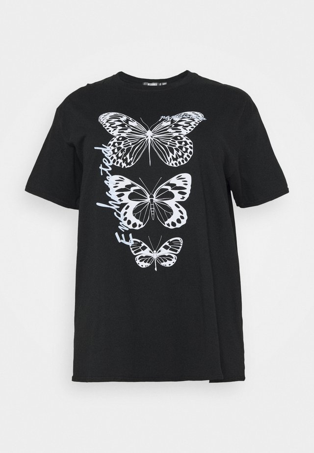 BUTTERFLY GRAPHIC  - T-shirt print - black