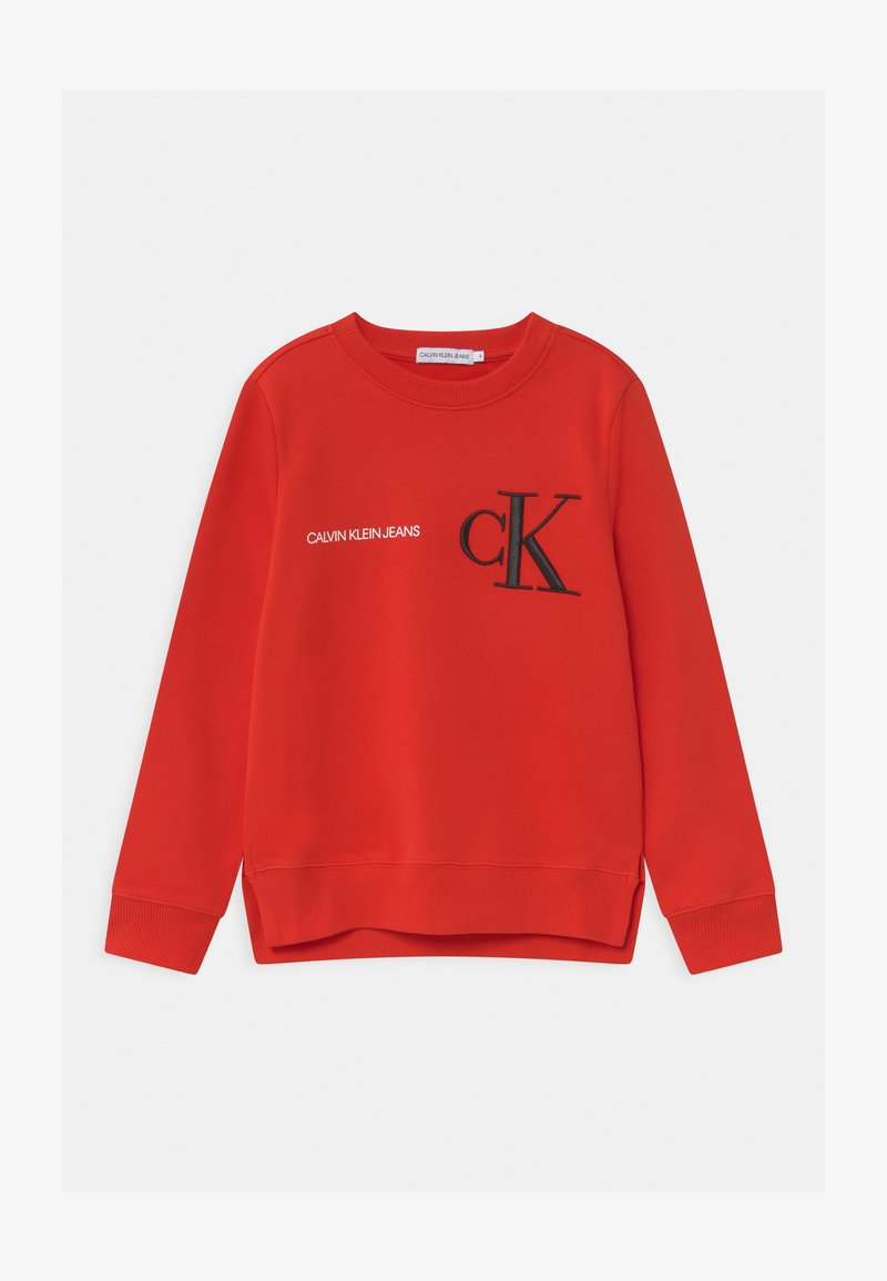 Calvin Klein Jeans - RAISED MONOGRAM - Mikina - red