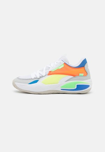 COURT RIDER TWO FOLD - Basketball shoes - white/palace blue