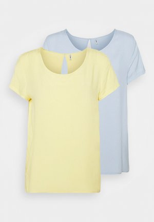ONLFIRST ONE LIFE SOLID 2 PACK - Blouse - cashmere blue/pack pineapple